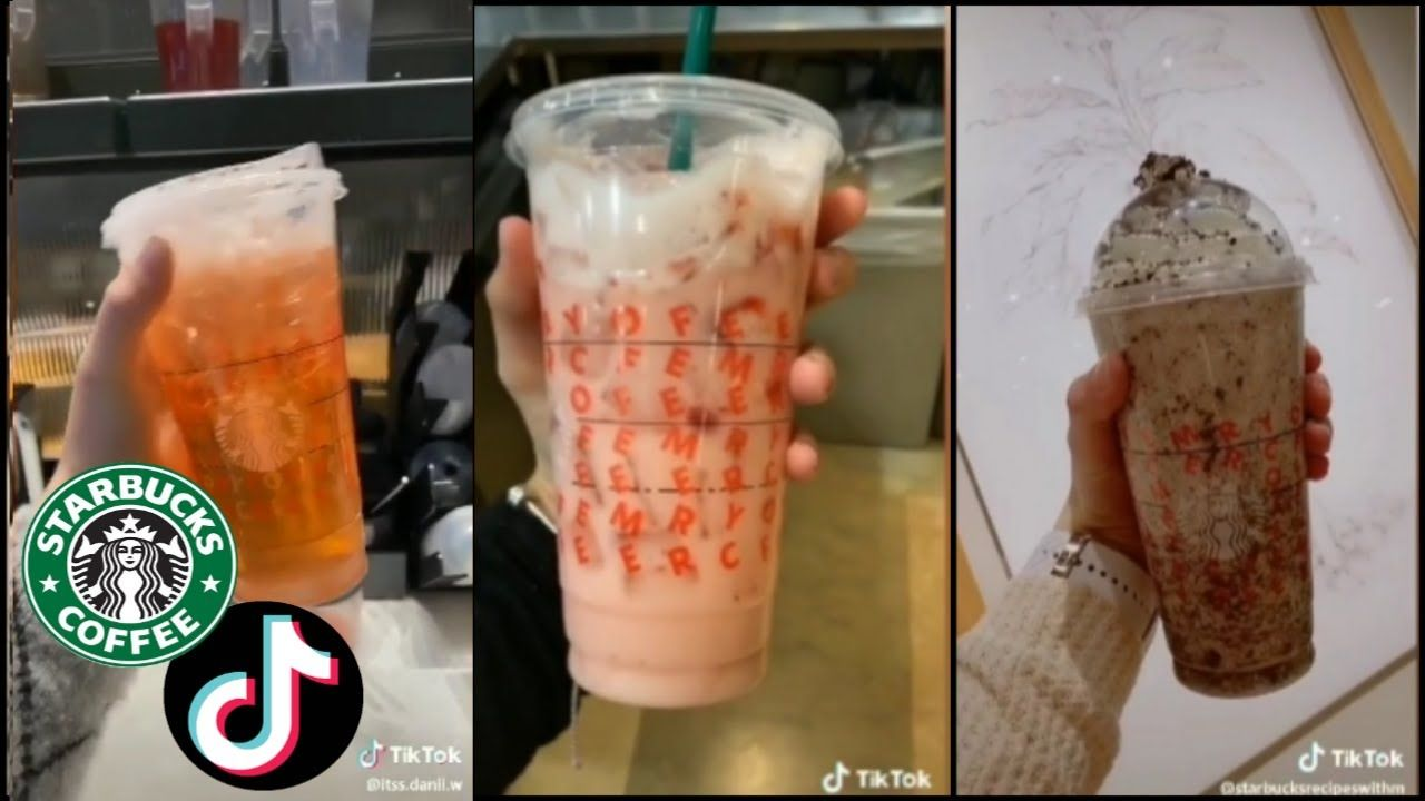 Making different starbucks drinks tiktok compilation 2
