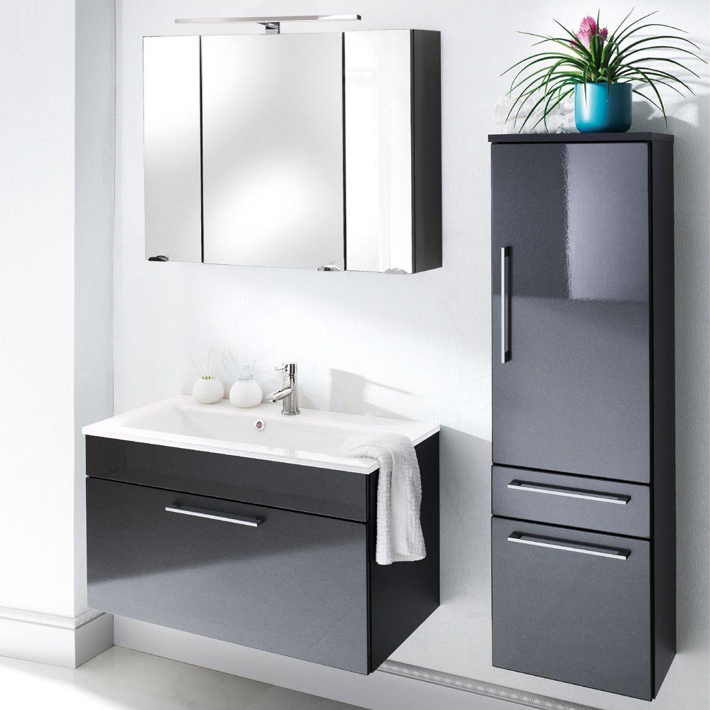 Badezimmer Set OHIO Hochglanz Anthrazit Jetzt Bestellen Unter: ...