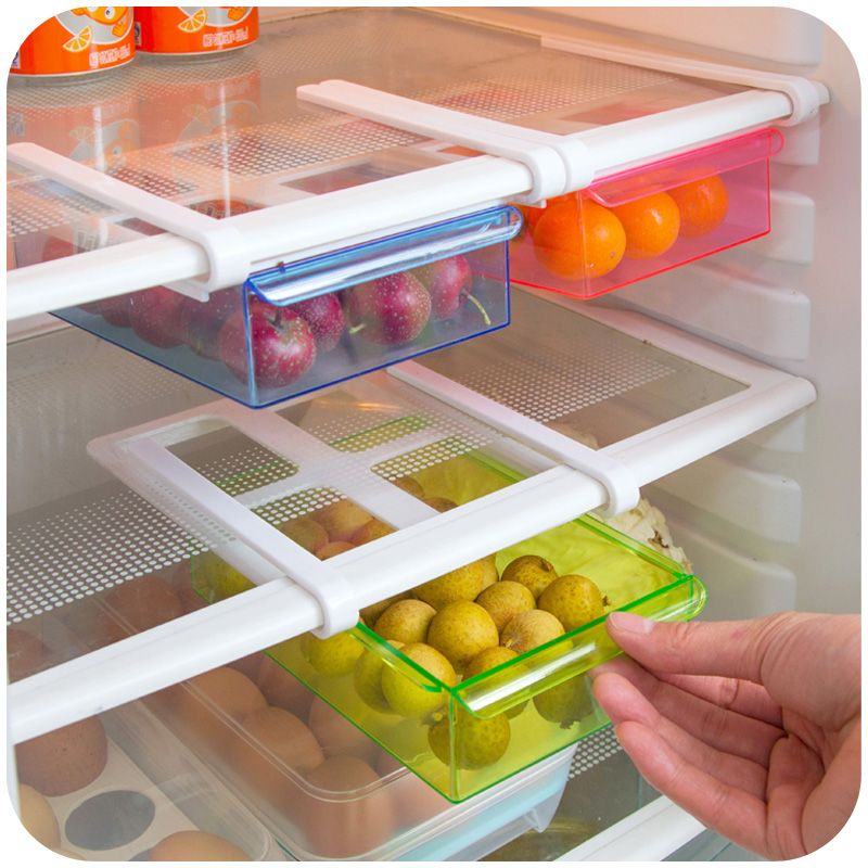 New Arrival Plastic Folding House Office Kitchen Shelf Fridge Sundries Storage Box E Rack 20 3