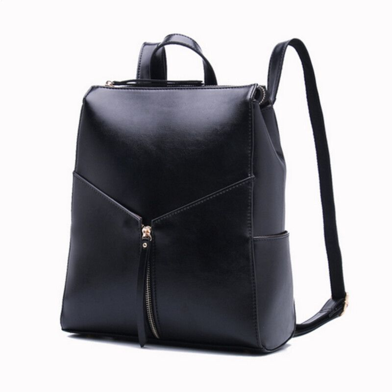 Women Black Leather Backpack Female Fashion Office Bag Las Work Bags Stylish Backpacks For Age S Mochilas Femininas