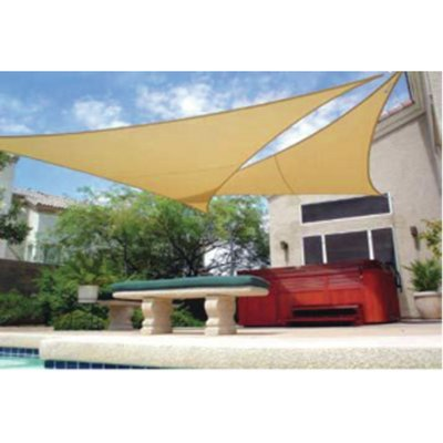 Gale Pacific 11 10 Triangle Shade Sail Color Pebble