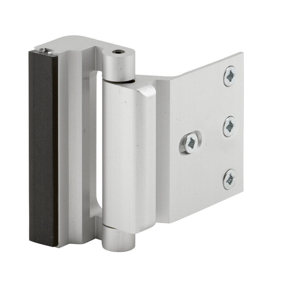 Prime Line Door Reinforcement Lock 3 In Stop Aluminum Construction Satin Nickel Anodized Finish U 10827 The Home Depot Door Blocker Door Reinforcement Security Door Design