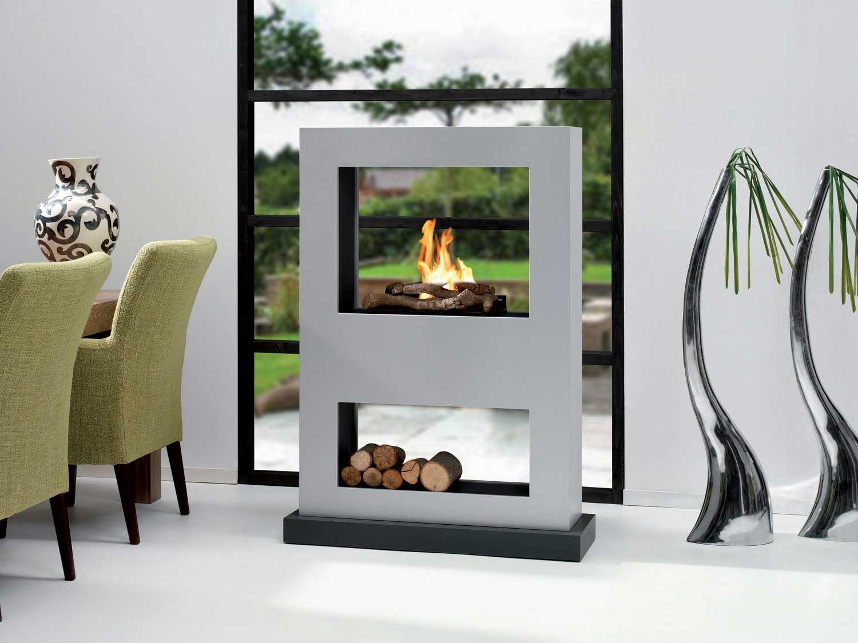 bio ethanol kamin camina living flame 32 mdf wei raumteiler feuer und flamme und feuer. Black Bedroom Furniture Sets. Home Design Ideas