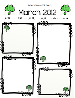Free Frames And March Newsletter Template March Newsletter Template Classroom Newsletter Template Preschool Newsletter Templates