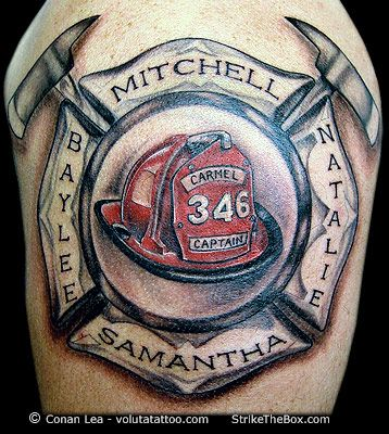 firefighter tattoo tattoos pinterest firefighter tattoos rh pinterest ca Maltese Cross Firefighter Tattoos firefighter helmet tattoo ideas