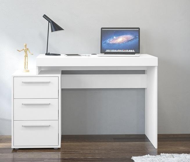 Escritorio moderno 3 cajones muebles de oficina tienda for Muebles de oficina blancos