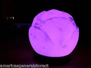 Purple Salt Lamp Alluring Himalayan Salt Lamps Purple  Usblotusflowerhimalayansaltlamp Inspiration