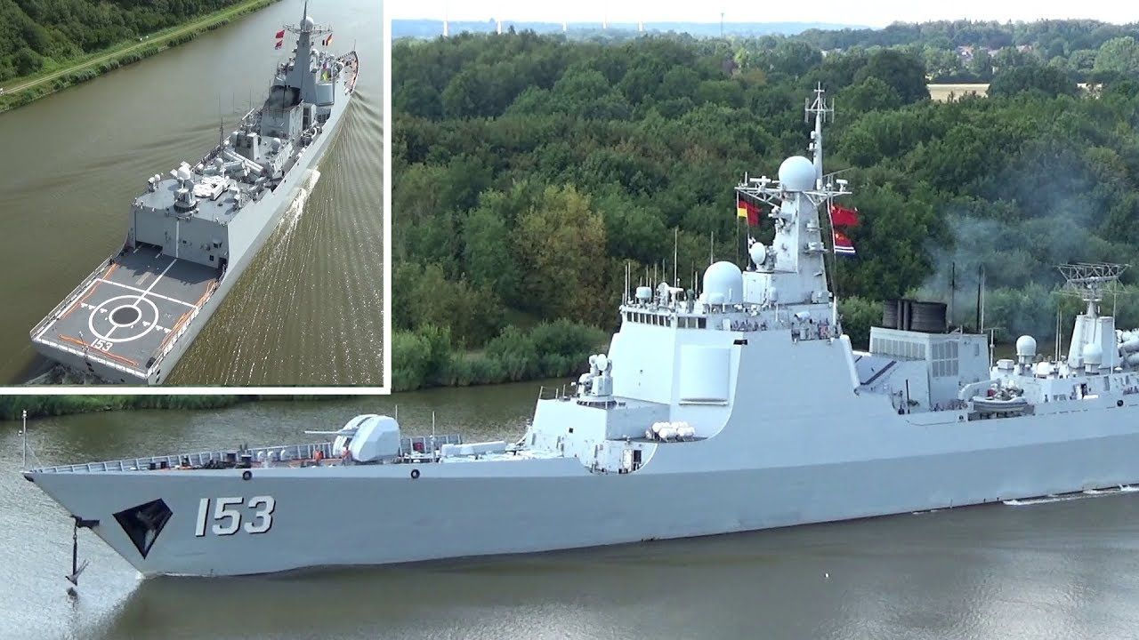 Chinese Pla Navy Destroyer Xi An In Germany S Kiel Canal People S Liberation Army Navy Army Navy