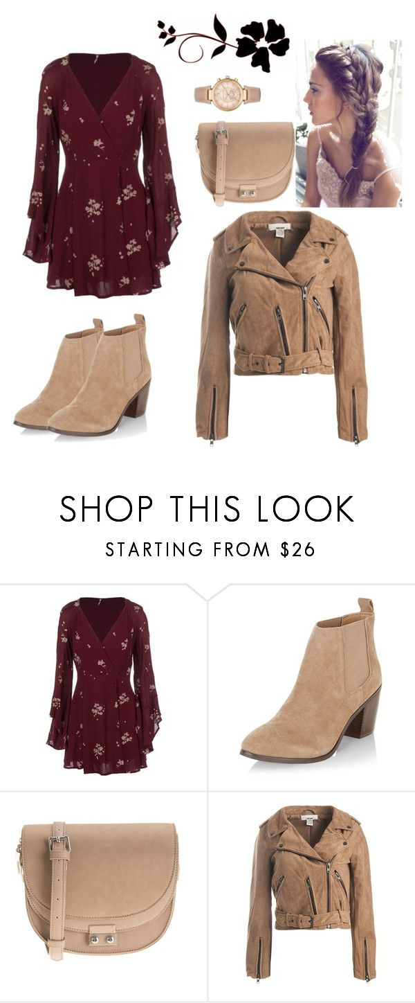 """""""Untitled #33"""" by zejna-husic ❤ liked on Polyvore featuring Free People, New Look, Parfois, Sans Souci and Michael Kors"""