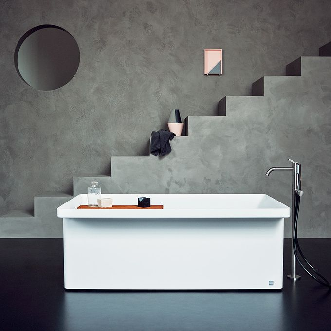 Agape's Art of Addition | Marsiglia is a bathtub of limited length which was born from the encounter of acontemporary material – the Cristalplant biobased – and an object of the past, the memory of fragrances and shapes: a washhouse.