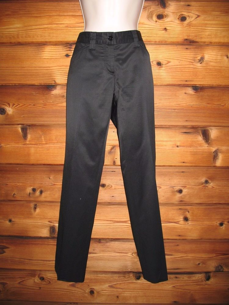 Dolce and Gabbana Pants Stretch Cotton Textured Blend 6 40 Italy Slim Leg #DolceandGabbana #CasualPants