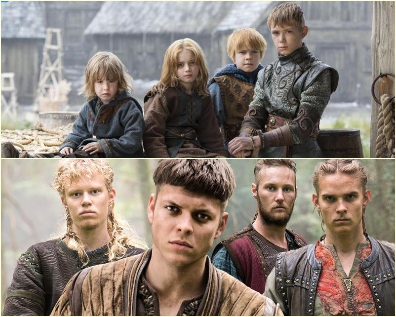 Ragnar S Sons By Aslaug Before And After Ragnar Lothbrok Vikings Vikings Tv Show Vikings Show