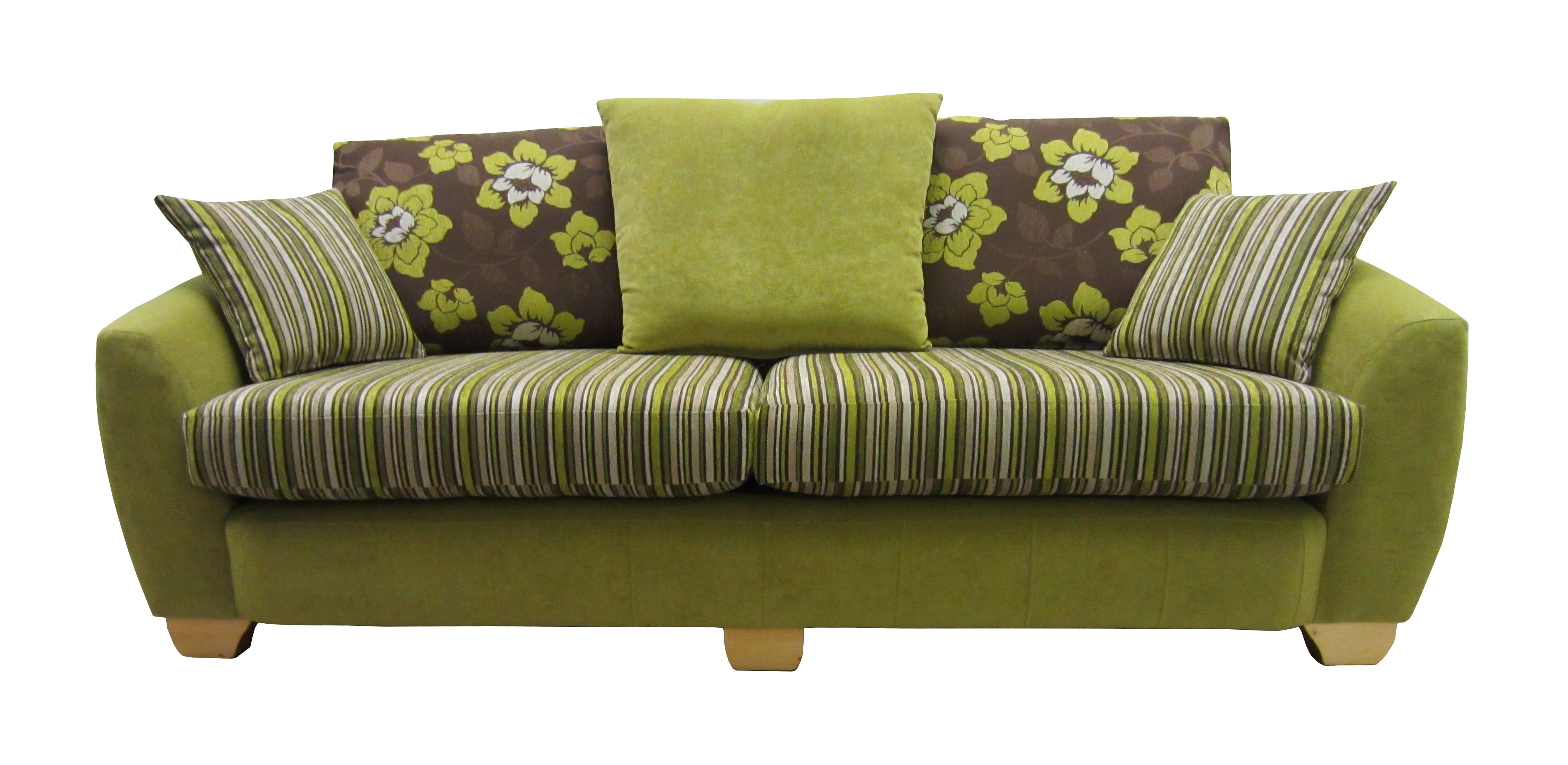 Lime green and brown 3 seater Vigo This sofa has a matching chair