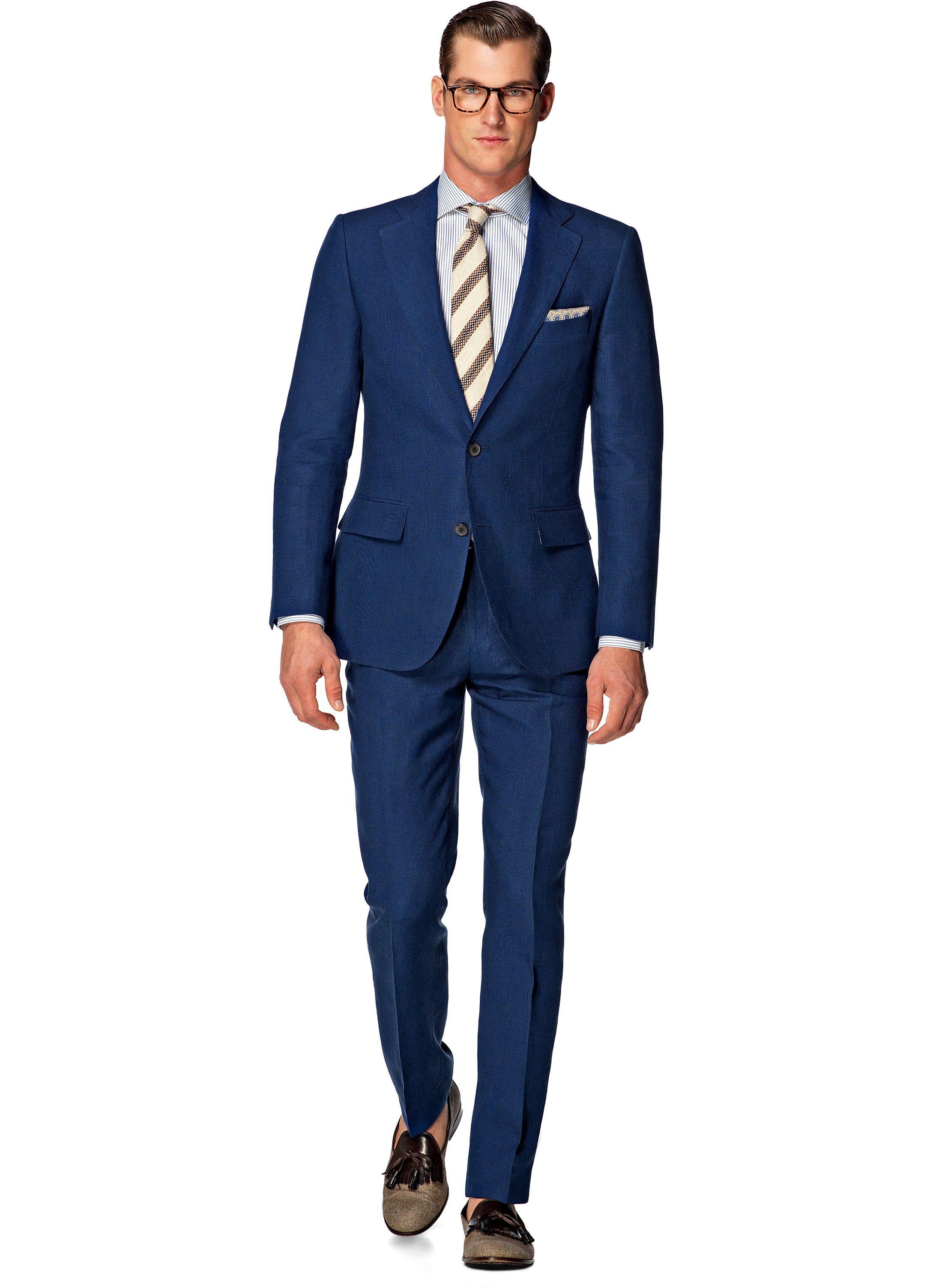 7a3aec2e0729 Suit Blue Check Lazio P4232i | Suitsupply Online Store | Style ...