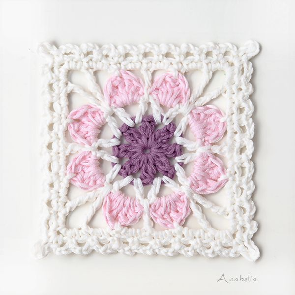 Crochet Flower Squares pattern, by Anabelia Craft Design ...