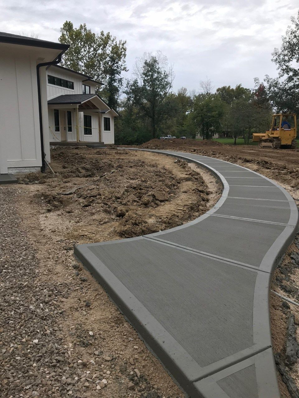 Sidewalk House Progress Update 15 With Images Front Walkway