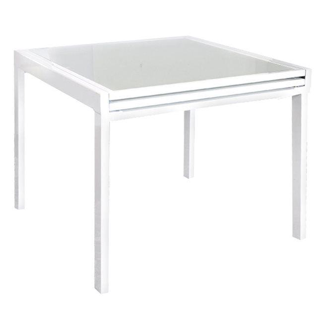 Table Carree Extensible Blanche Rendez Vous Deco Amenagement