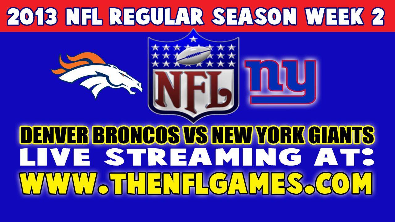 Denver Broncos vs New York Giants Live Streaming Nfl