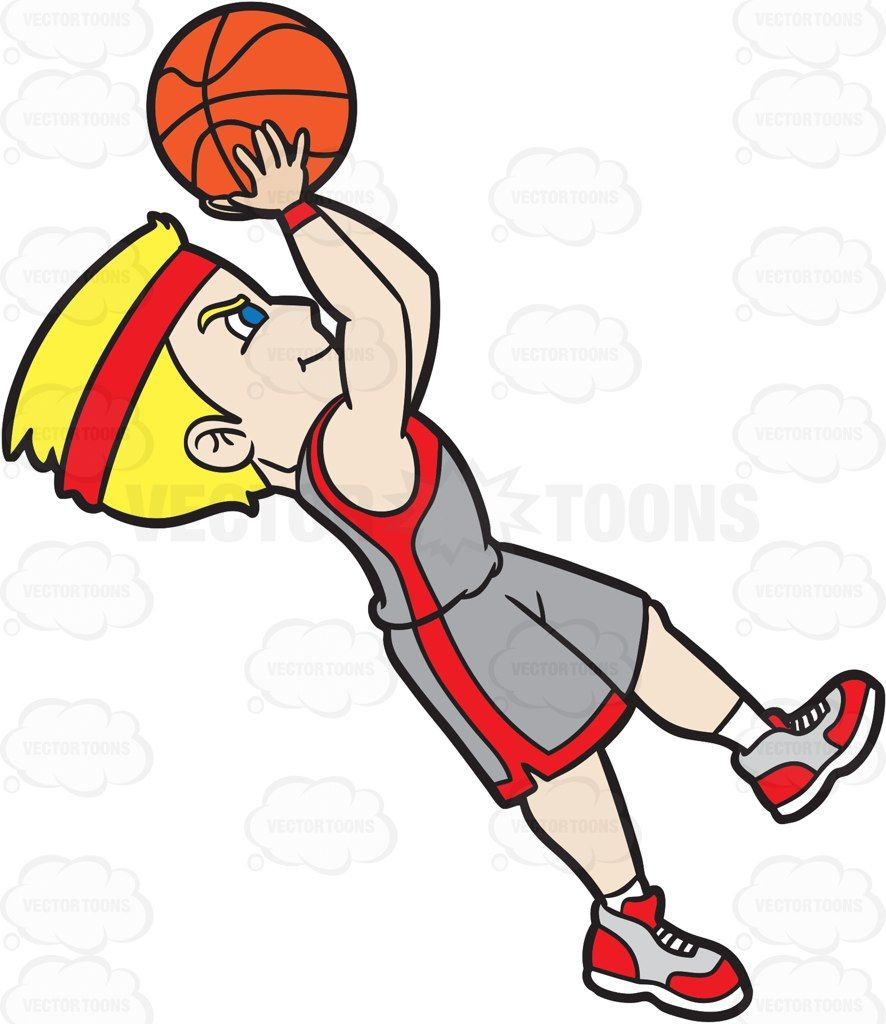 A Male Basketball Player Doing A Fade Away Shot Basketball Players Cartoon People Players