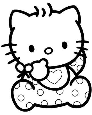 Coloring pages: Coloring pages: Hello Kitty, printable for kids ... | 400x322