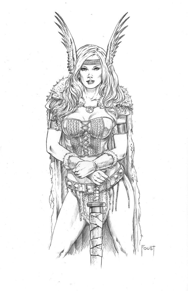 Sword Maiden By Mitchfoustdeviantartcom On At Deviantart çizim