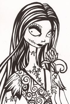nightmare before christmas characters drawings - Google Search ...