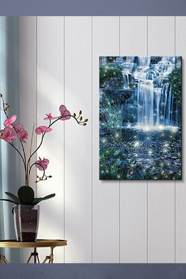 I Love The Look Of This Majestic And Enchanting Waterfall Wall Art. Great  For A