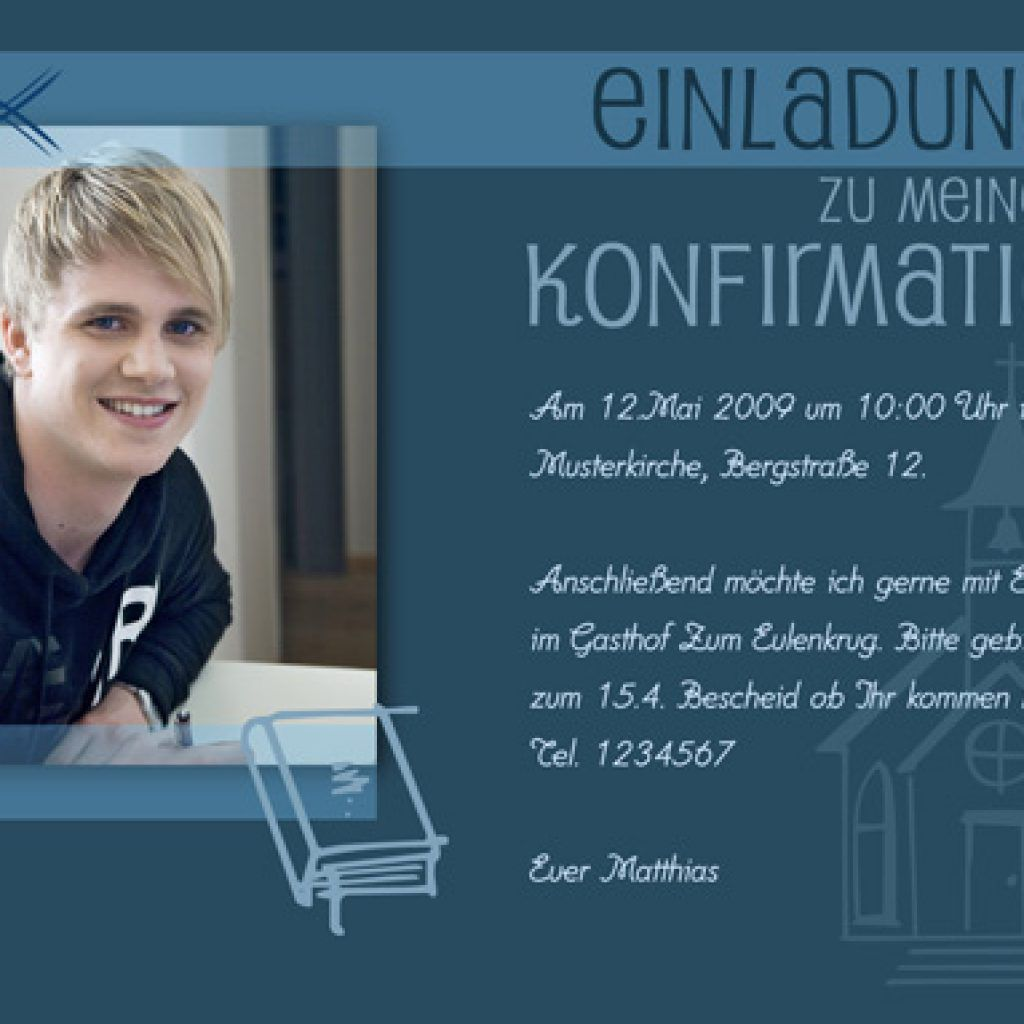 einladung konfirmation kaffeetrinken text konfi. Black Bedroom Furniture Sets. Home Design Ideas