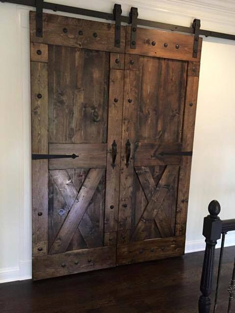 Rustic sliding barn doors at affordable prices split 39 x for Sliding barn door construction plans