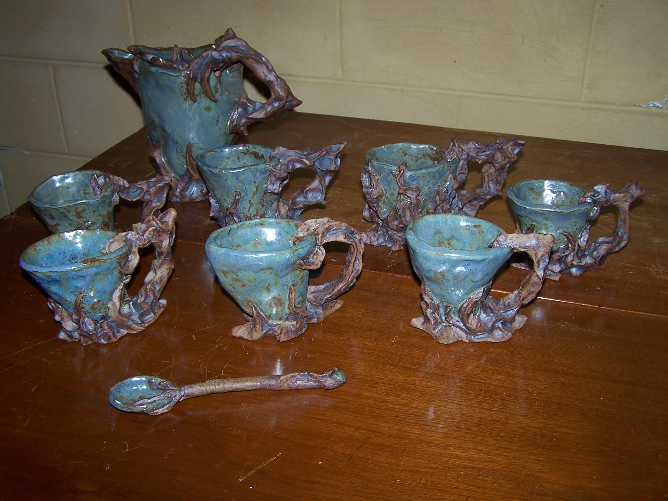 art ceramics - Dark Forest tea set