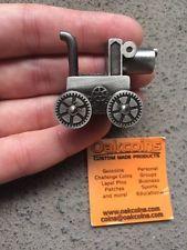 Antique Silver Steampunk Dog Geocoin