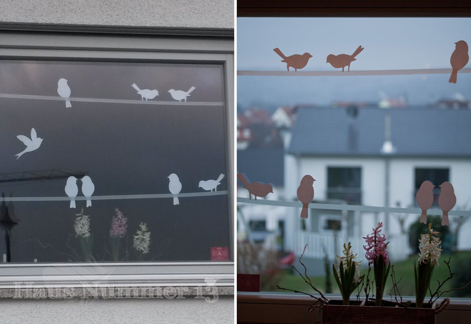 haus nummer 13 diy kommt ein vogel geflogen fensterdeko f r den fr hling freebie deko. Black Bedroom Furniture Sets. Home Design Ideas