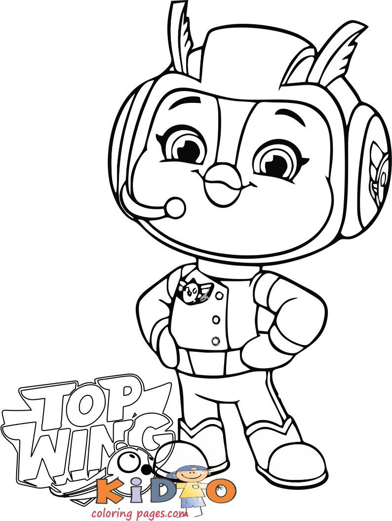 Penny Top Wing Coloring In Pages For Kids Print Out In 2020 Kids Prints Coloring Pages Coloring Books