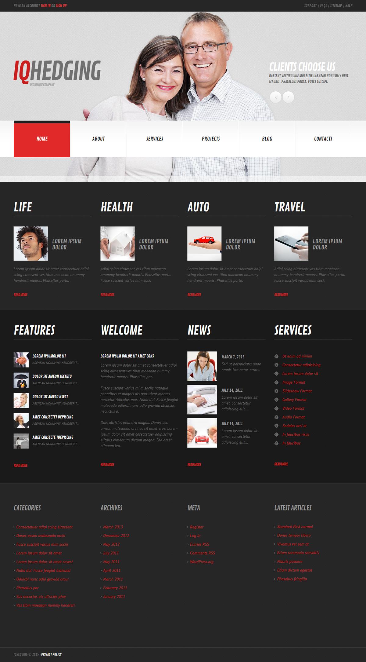 Insurance Company Wordpress Theme Wordpress Theme Wordpress Website Themes