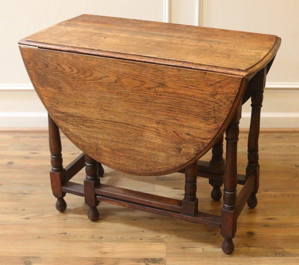 Antique English Oak Drop Leaf Dining Table Rustic Gate Leg Etsy Antique Drop Leaf Table Dining Table Rustic Drop Leaf Dining Table