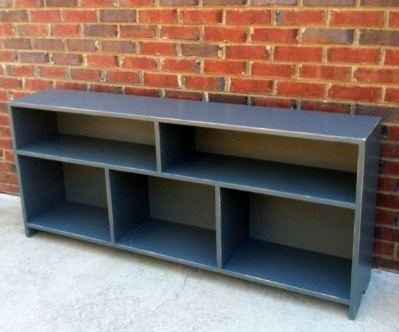 Media Console Cubby Wall System Two Over Three Shabby Cottage Style Bookcase Shipping Included On Etsy