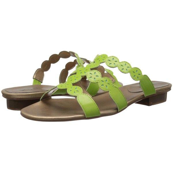 Womens Sandals Vaneli Bebra Lime Nappa/Turquoise Nappa