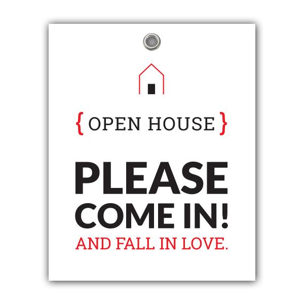 Door Sign Open House Fall In Love Open House Signs Open Signs Open House