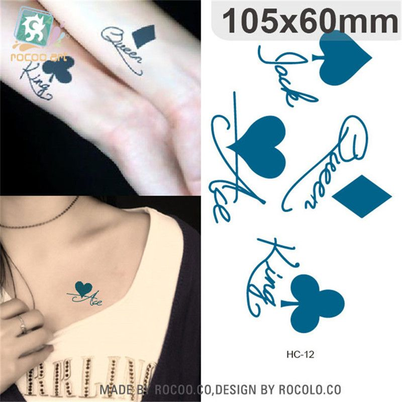 Playing Cards Temporary Tattoos