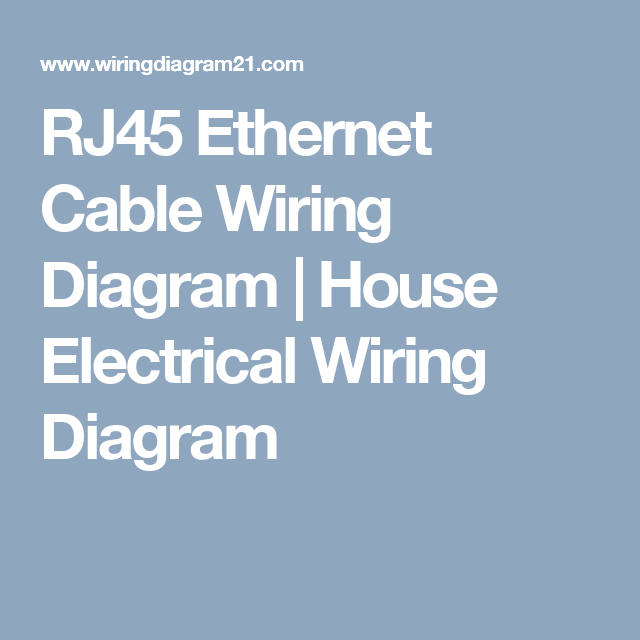 RJ45 Ethernet Cable Wiring Diagram | House Electrical Wiring Diagram ...