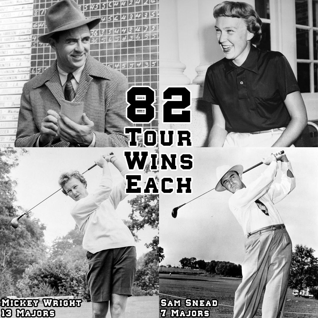 What do legendary golfers Sam Snead and Mickey Wright have