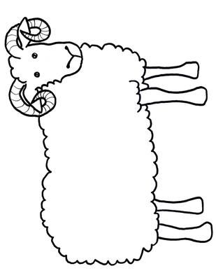 ram craft template kids craft free printable lamb sheep projects - Kids Drawing Page