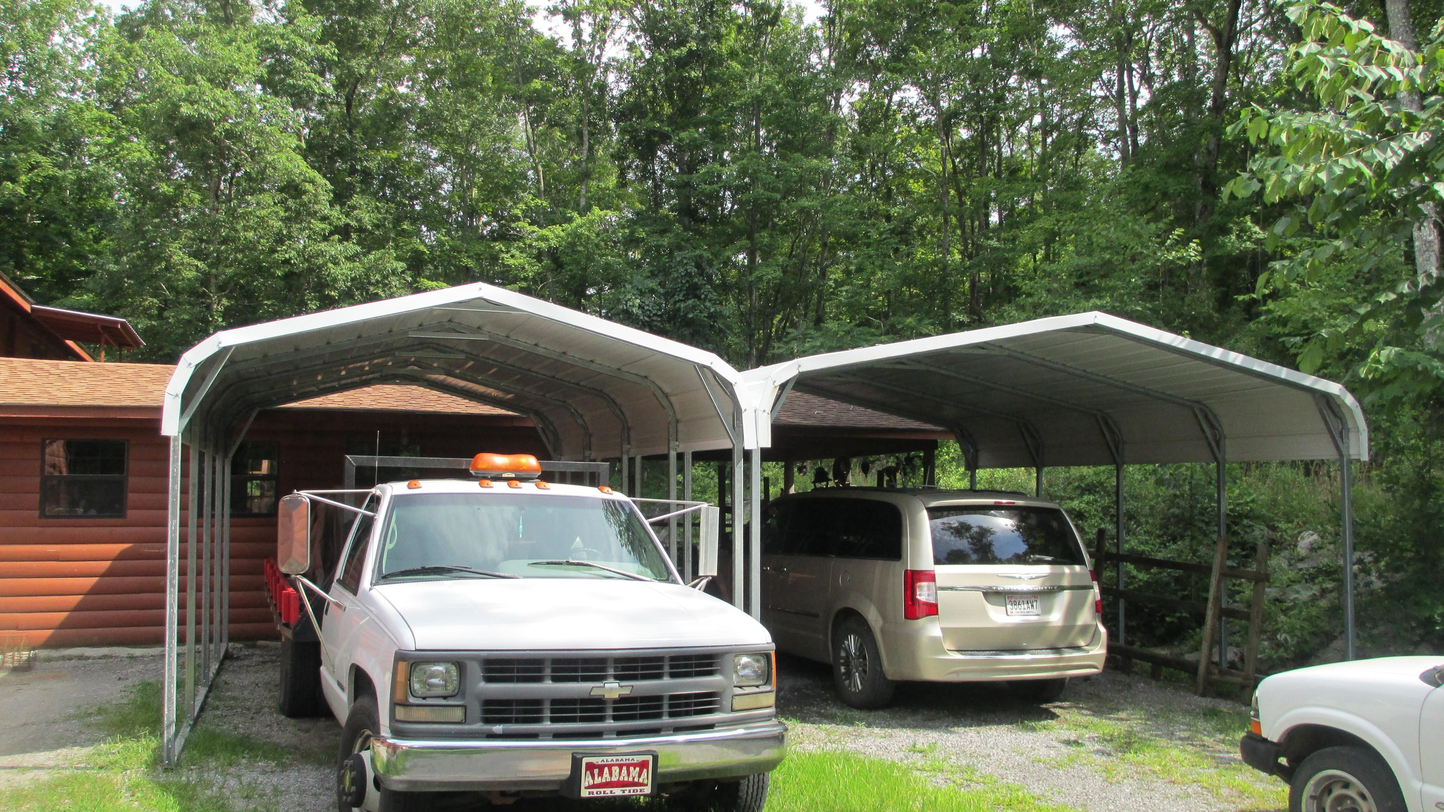 12x21 Regular Metal Carport Alan's Factory Outlet