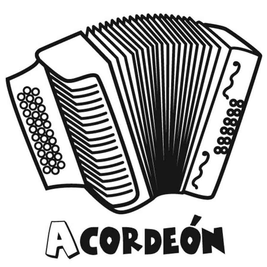 Dibujos Para Colorear De Instrumentos De Musica Acordeon Dibujo Musica Instrumentos Dibujos De Instrumentos Musicales