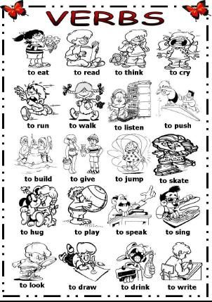 Verbs with pictures Verbage! Pinterest Action verbs, Picture - action verbs resume