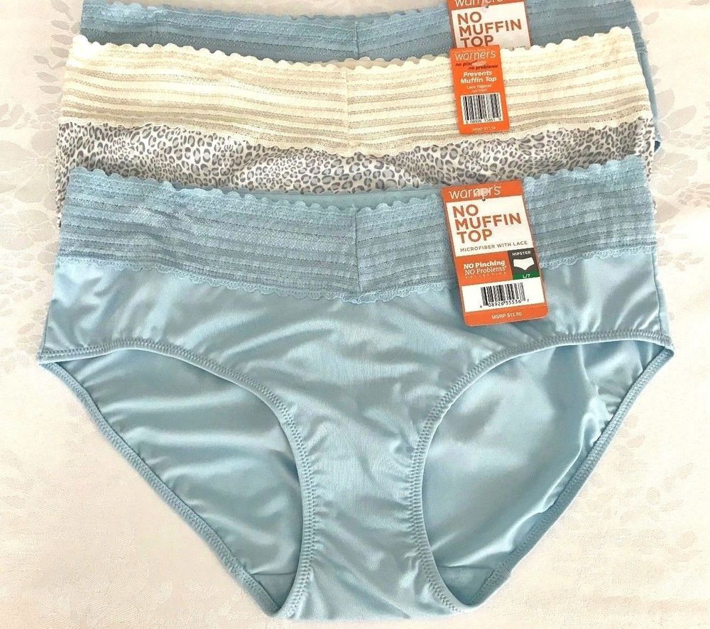 eaf77a47b542 WARNERS HIPSTER LACE NO MUFFIN TOP PANTIES 2 PAIR Size 7 L 5609J NWT # Warners #Hipster #Everyday