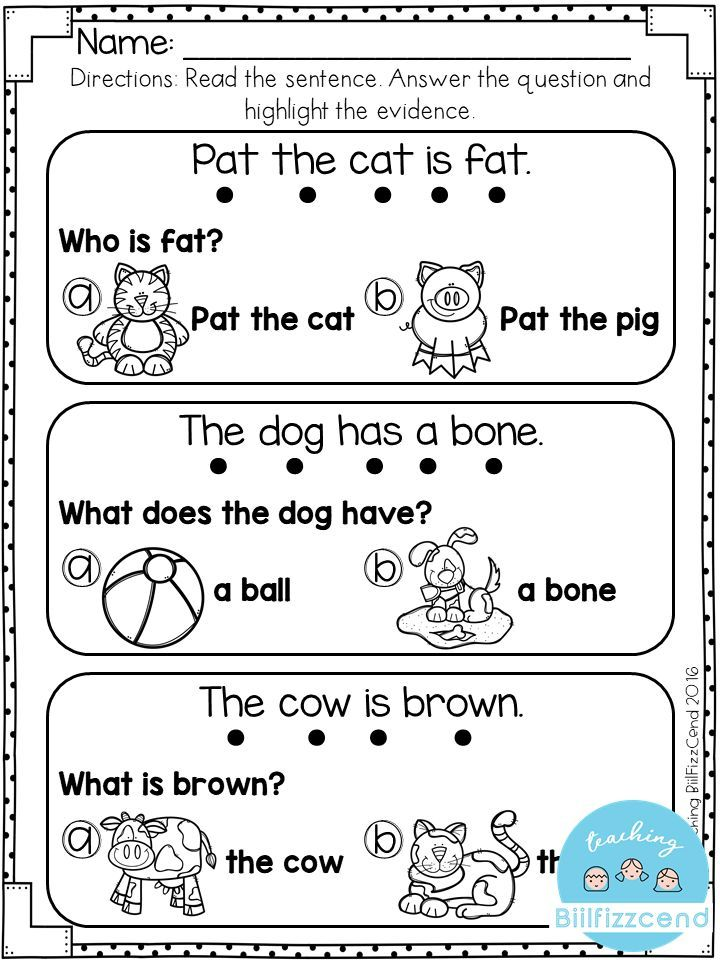 Preparing For Second Grade Worksheets : Free reading comprehension for early reader tpt language