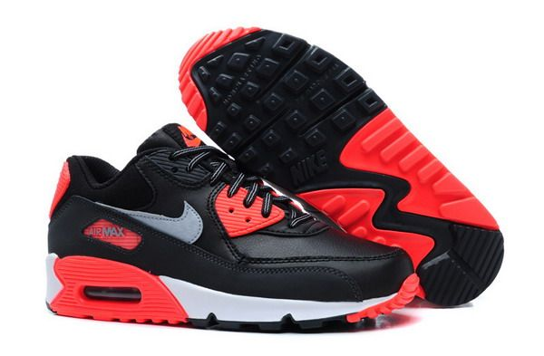 932e36d99a57 Air Max 90 Womens Shoe Black   Red   White   Metallic Silver