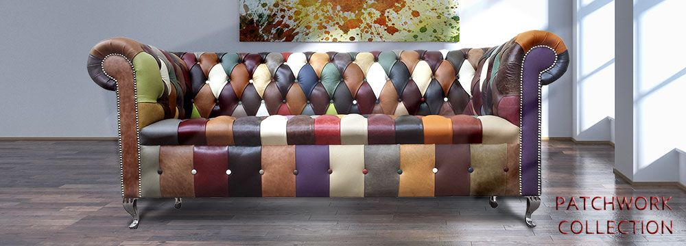 Fine Cool Leather Chesterfield Patchwork Sofas Patchwork Home Interior And Landscaping Sapresignezvosmurscom