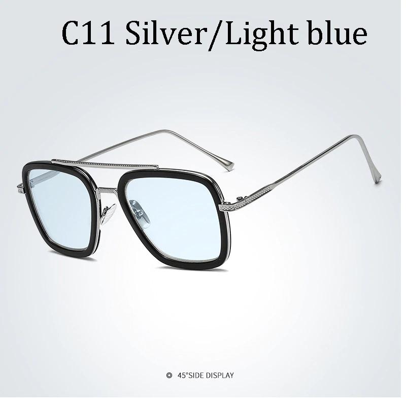 Free Shipping Luxury Fashion Avengers Tony Stark Flight Style Man Sunglasses Men Square Brand Design Sun Glasses Oculos Retro Male Jkp1957 Tony Stark Sunglasses Stark Style Mens Sunglasses